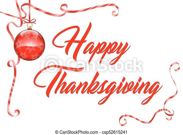 Happy Thanksgiving - csp52615241
