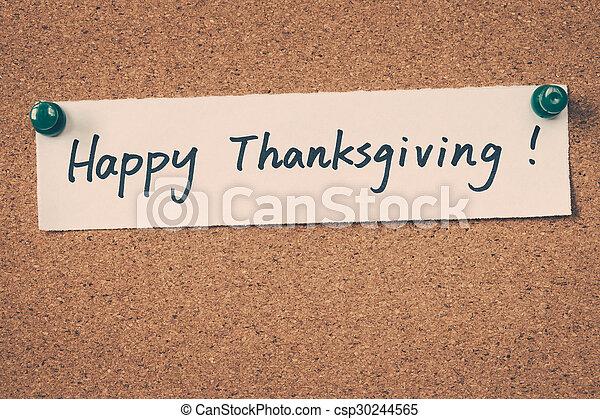 happy thanksgiving - csp30244565