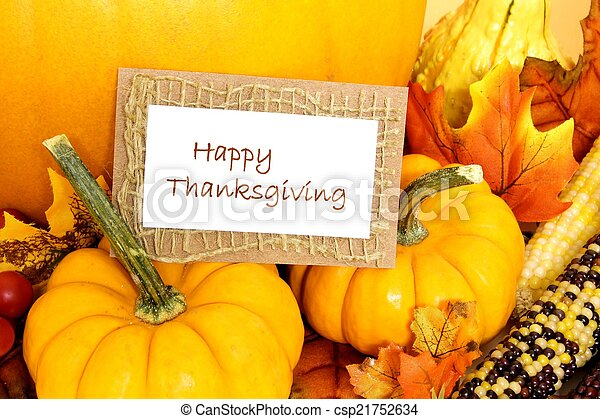 Happy Thanksgiving - csp21752634