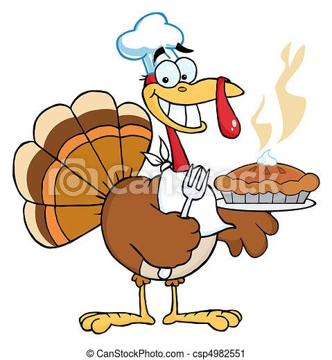 Happy Turkey Chef - csp4982551
