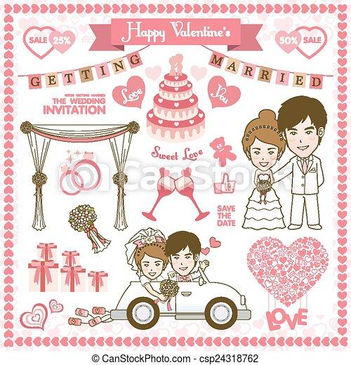 Happy Valentine Card - csp24318762