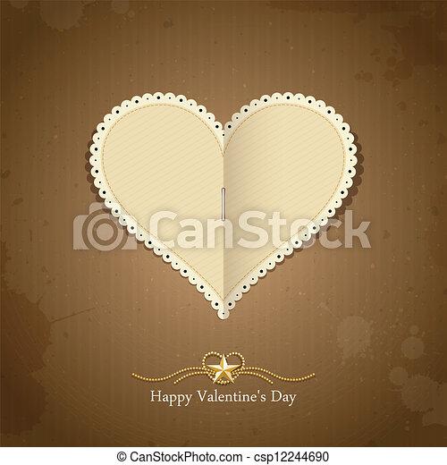 Happy Valentine day paper classic - csp12244690