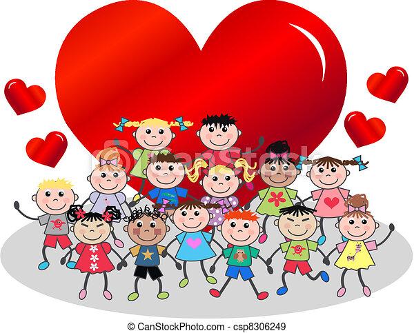 Kids Valentines Day Clipart