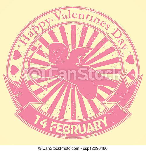 Happy valentine stamp - csp12290466
