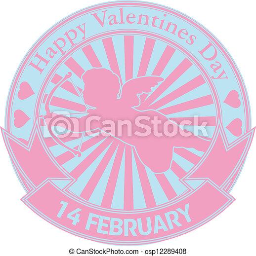 Happy valentine stamp - csp12289408
