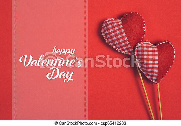 Happy Valentines day and heart - csp65412283
