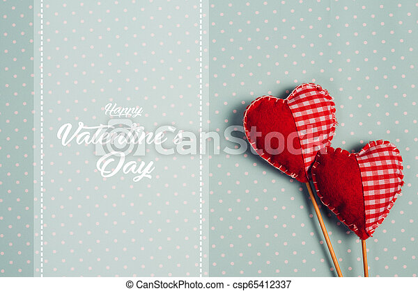 Happy Valentines day and heart. - csp65412337