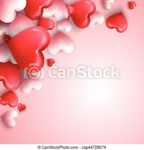 Vector illustration of happy valentines day background with ...