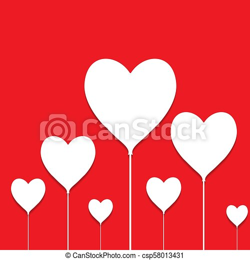 Happy Valentine S Day Balloons With Shadow Flat Style Eps10