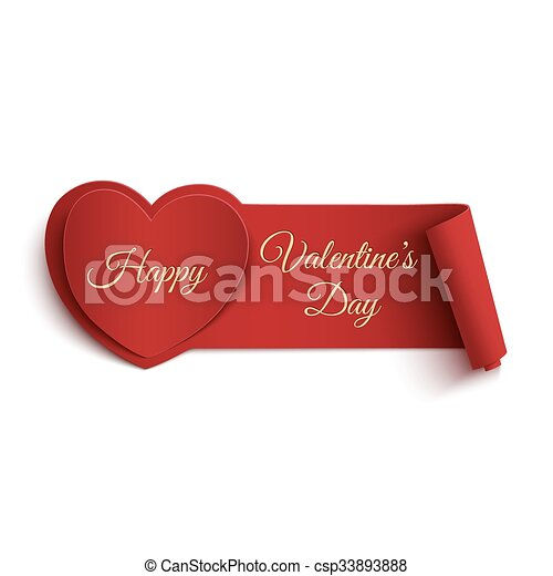 happy valentines day banner happy valentines day banner isolated on