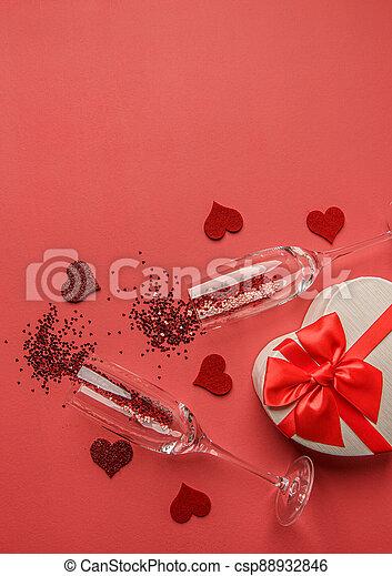 Happy Valentines Day concept. - csp88932846