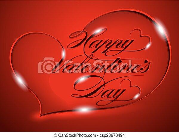 Happy Valentine's Day - csp23678494