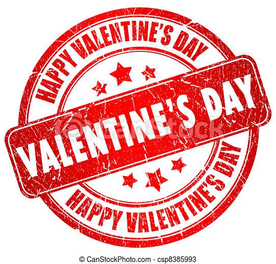 Happy Valentines Day Stamp
