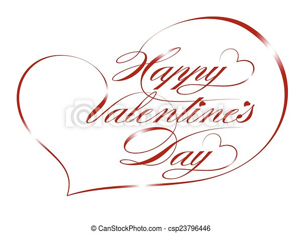 Happy Valentine's Day - csp23796446