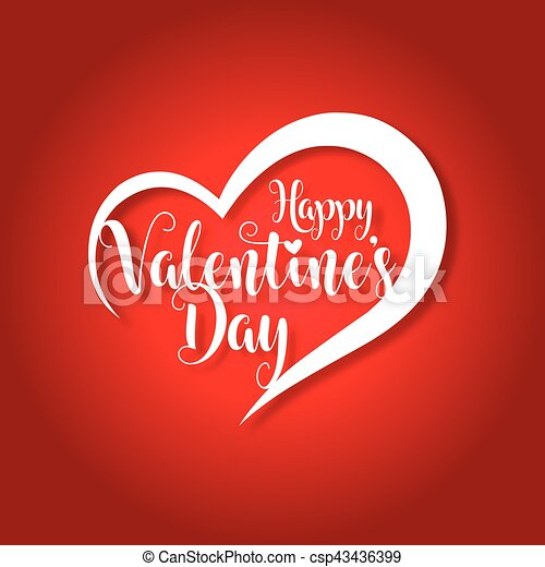 happy valentines day greeting card vector illustration - csp43436399
