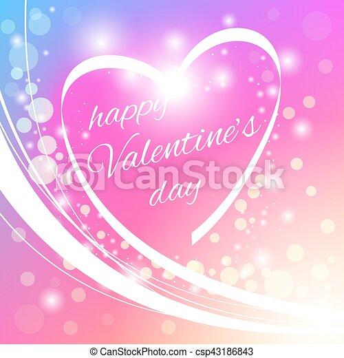 Happy Valentine's Day greeting card - csp43186843