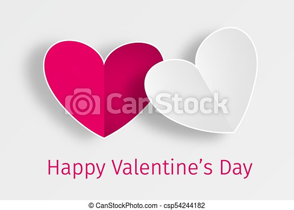 Happy Valentine's Day greeting card - csp54244182