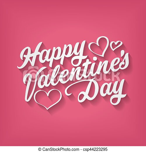 Happy Valentines Day Hand Drawing Inscription Happy Valentine S Day