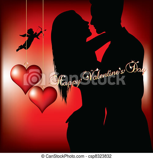Happy Valentines Day Valentines Day Background Vector Illustration