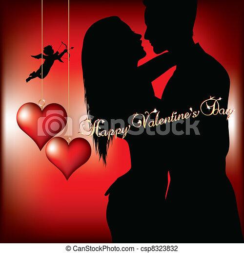 happy valentines day - csp8323832