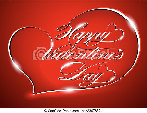 Happy Valentine's Day - csp23678574