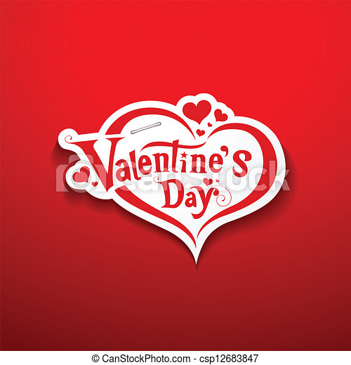 Happy Valentine S Day Lettering On Paper Background Vector