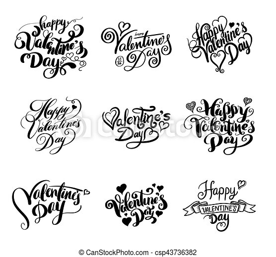 Happy Valentine S Day Lettering Vector Illustration For Valentine S