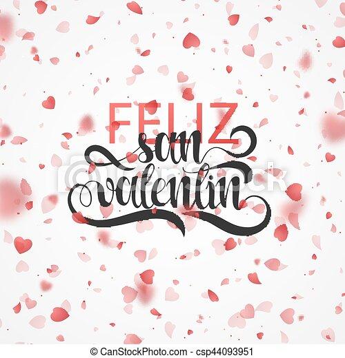 Happy Valentines Day Phrase Spanish Handmade Feliz San Valentin