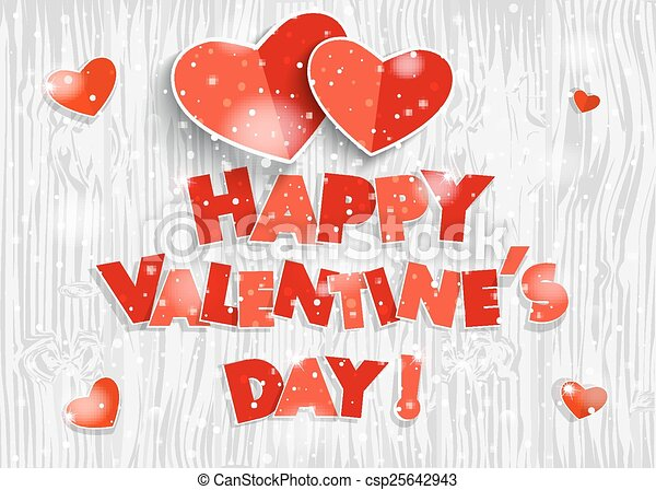 Happy Valentines Day Red Hearts Photo Frames And Text I Love You