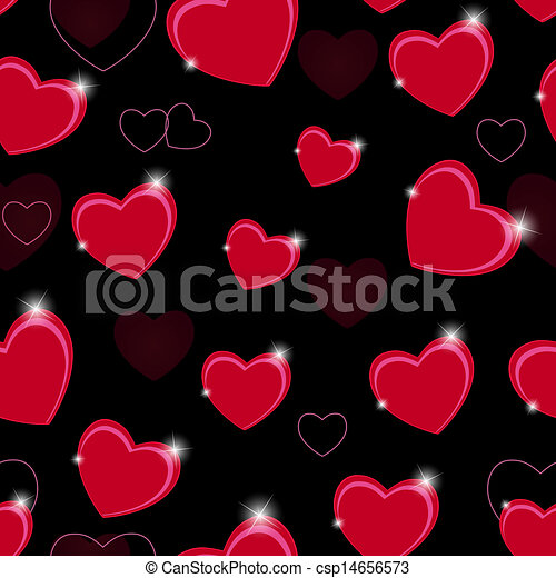 Happy Valentines Day seamless pattern background with heart. Vector illustration - csp14656573