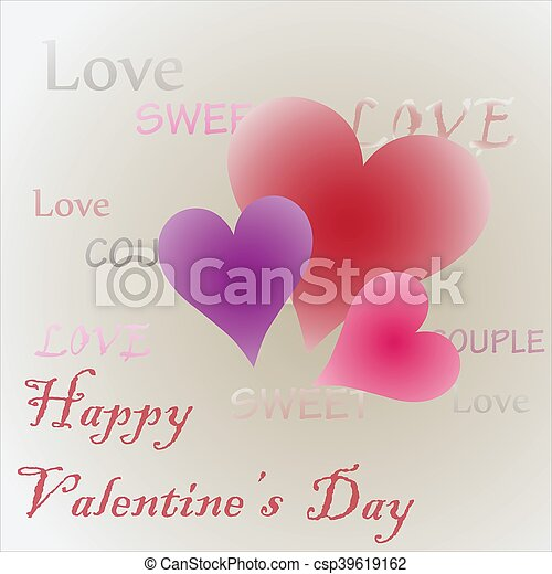 happy valentines day - csp39619162