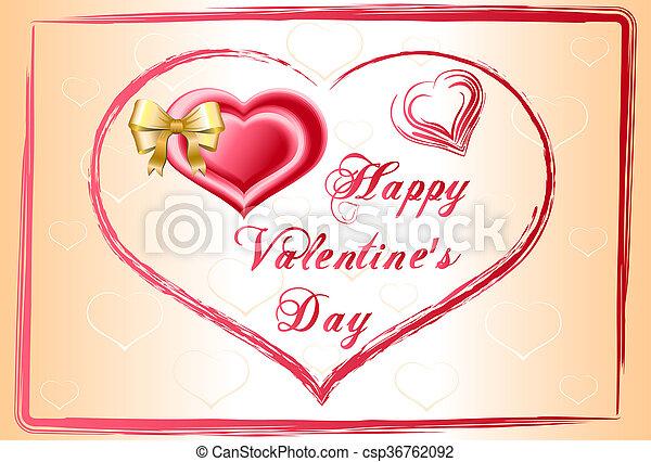 happy valentines day - csp36762092
