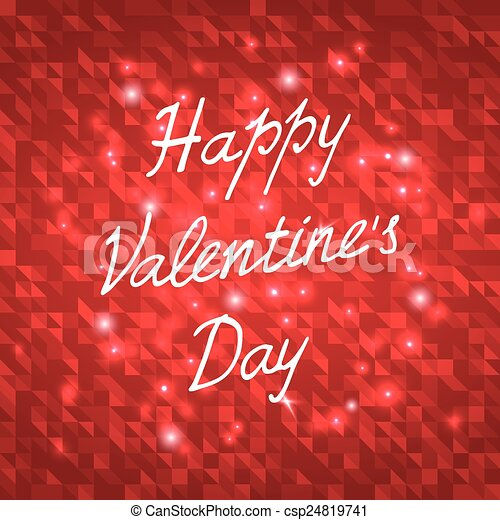 Happy Valentines Day Vector Illustration - csp24819741