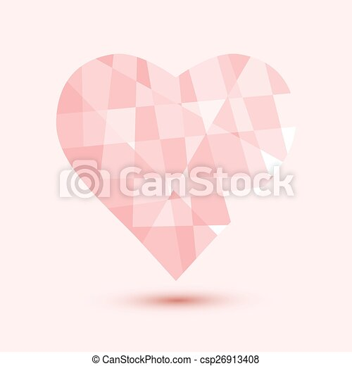 happy valentines day vector illustration background - csp26913408
