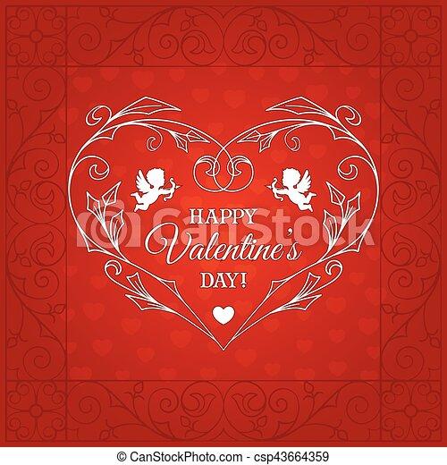 Happy Valentines Day Vintage Card Happy Valentines Day Vintage