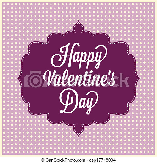 Happy Valentine's Day. Vintage Card - csp17718004