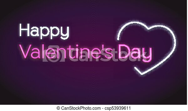 Happy valentines s day neon text on dark background concept of happy valentines s day neon text on dark background concept of romantic greeting cards glowing and lit up neon heart shaped love sign with text m4hsunfo