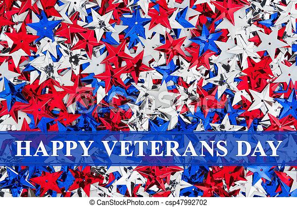 Happy veterans day greeting happy veterans day text over red white happy veterans day greeting csp47992702 m4hsunfo