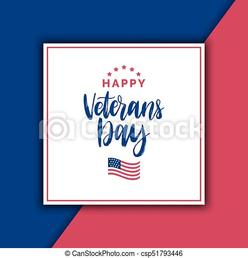 Happy veterans day lettering with usa flag illustration november 11 happy veterans day lettering with usa flag illustration november 11 holiday background greeting m4hsunfo