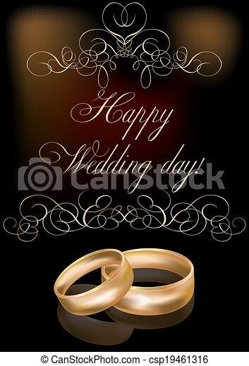 Happy wedding day card vector illustration vector clip art search happy wedding day card vector junglespirit Gallery