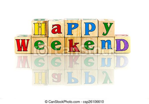 happy weekend - csp26106610