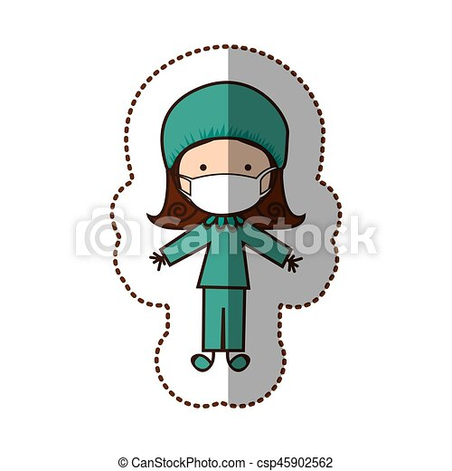 happy woman doctor customer vector illustration design clip art rh canstockphoto ca Good Customer Service Clip Art Customer Clip Art