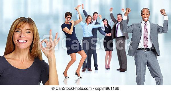 Happy woman portrait. - csp34961168
