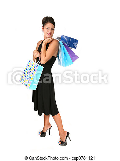 Happy Woman Shopping for a Special Occasion - csp0781121