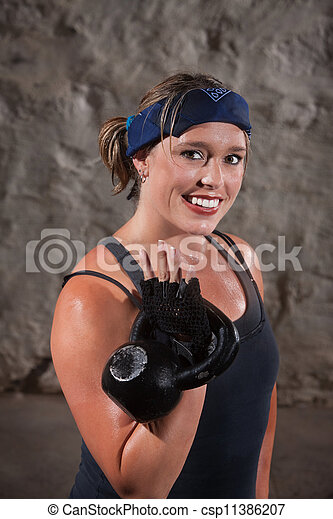 Happy Woman Working Out - csp11386207