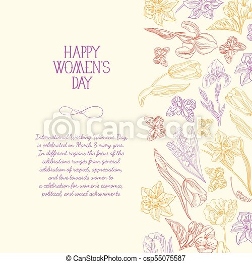 Happy womens day postcard happy womens day postcard with many happy womens day postcard csp55075587 m4hsunfo