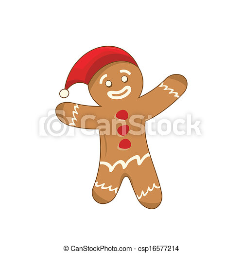Happy xmas gingerbread man - csp16577214
