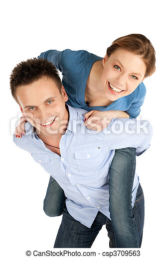 Happy Young Couple Fun - csp3709563