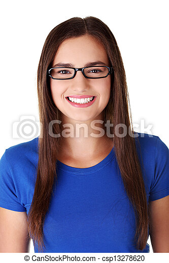 Happy young student woman - csp13278620