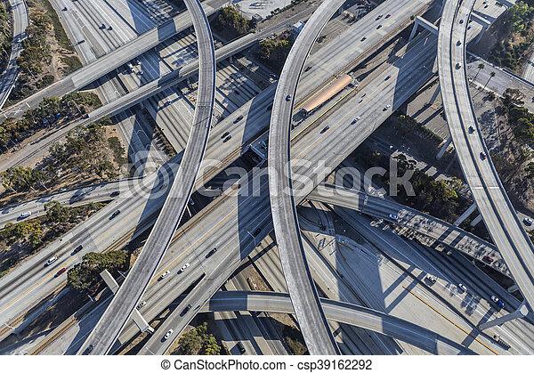 Harbor and Century Freeway Interchange in Los Angeles - csp39162292